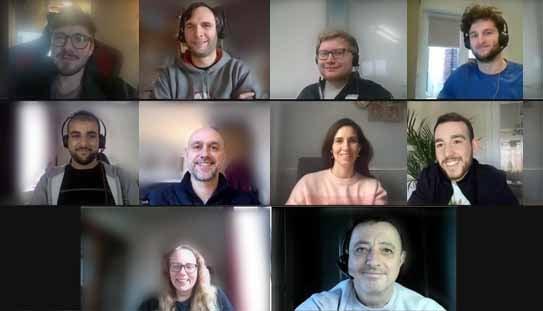 Superfast IT team on Zoom call!