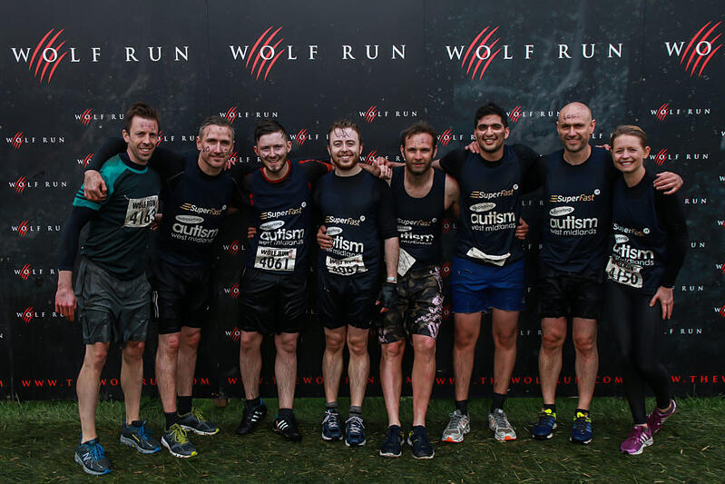 Superfast IT take part in the Wolf run for charity